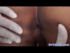 Twink oriental doctor gives milk enema