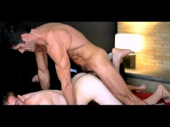 Hot sexy young guy assfucked by older toned sexy guy