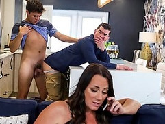 Horny boy fucking his step father real hard