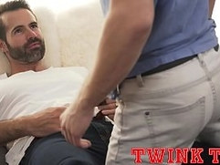 TWINKTOP - Hung twink fucks hot tatted daddy Dolf Dietrich bareback