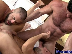 Muscular gay group sex with dudes