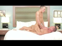 Casey Daniels blows a load while riding Tylar Saint