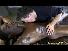 Straight guy succumbs to gay masseur