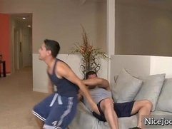 Josh gets his tight anus fucked deep by NiceJocks
