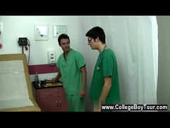 Sexy gay The doctor withdrew his spear from the nurses gullet and got