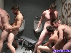 Muscular hunks enjoying fuck