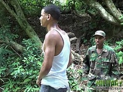 Cock loving military lad blows a boy