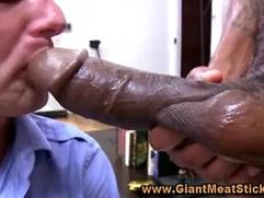Gay big black monster cock blowjob