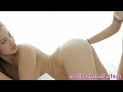 Gorgeous pornstars Dani Daniels and Lily Love horny threesome