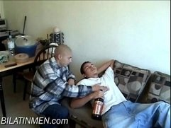 Sucking A Fat Latino Cock