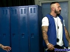 Muscular coach assfucking sporty inked jock