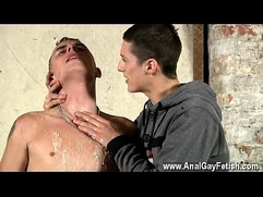 Amazing twinks Poor Leo can't escape as the spectacular youngster