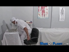 Ebony doctor sucked off